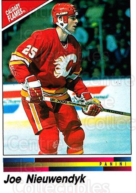 1990-91 Panini Stickers #174 Joe Nieuwendyk<br/>10 In Stock - $1.00 each - <a href=https://centericecollectibles.foxycart.com/cart?name=1990-91%20Panini%20Stickers%20%23174%20Joe%20Nieuwendyk...&quantity_max=10&price=$1.00&code=17908 class=foxycart> Buy it now! </a>