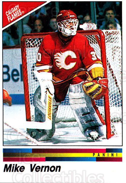 1990-91 Panini Stickers #175 Mike Vernon<br/>11 In Stock - $1.00 each - <a href=https://centericecollectibles.foxycart.com/cart?name=1990-91%20Panini%20Stickers%20%23175%20Mike%20Vernon...&quantity_max=11&price=$1.00&code=17909 class=foxycart> Buy it now! </a>