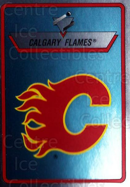 1990-91 Panini Stickers #180 Calgary Flames<br/>10 In Stock - $1.00 each - <a href=https://centericecollectibles.foxycart.com/cart?name=1990-91%20Panini%20Stickers%20%23180%20Calgary%20Flames...&quantity_max=10&price=$1.00&code=17915 class=foxycart> Buy it now! </a>