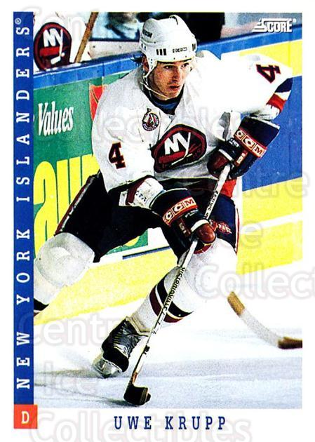 1993-94 Score USA #87 Uwe Krupp<br/>3 In Stock - $1.00 each - <a href=https://centericecollectibles.foxycart.com/cart?name=1993-94%20Score%20USA%20%2387%20Uwe%20Krupp...&quantity_max=3&price=$1.00&code=179164 class=foxycart> Buy it now! </a>
