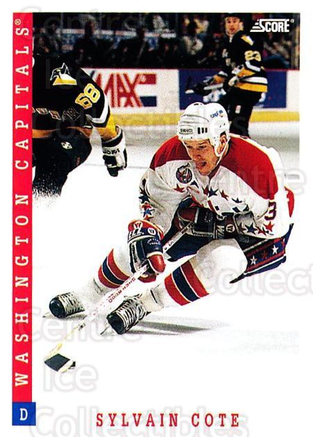 1993-94 Score USA #92 Sylvain Cote<br/>4 In Stock - $1.00 each - <a href=https://centericecollectibles.foxycart.com/cart?name=1993-94%20Score%20USA%20%2392%20Sylvain%20Cote...&quantity_max=4&price=$1.00&code=179170 class=foxycart> Buy it now! </a>