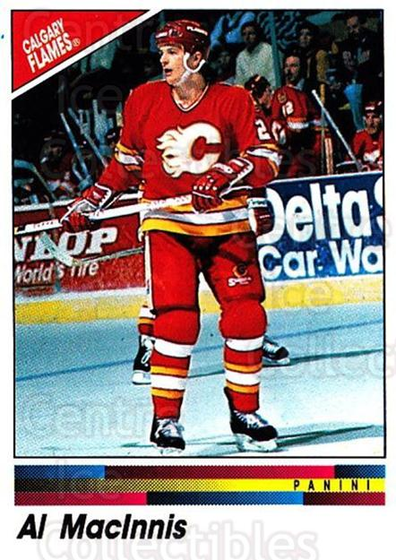 1990-91 Panini Stickers #185 Al MacInnis<br/>9 In Stock - $1.00 each - <a href=https://centericecollectibles.foxycart.com/cart?name=1990-91%20Panini%20Stickers%20%23185%20Al%20MacInnis...&quantity_max=9&price=$1.00&code=17920 class=foxycart> Buy it now! </a>