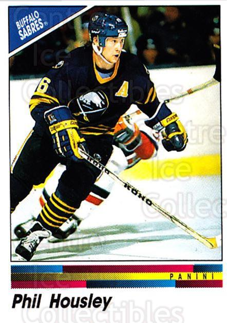 1990-91 Panini Stickers #21 Phil Housley<br/>9 In Stock - $1.00 each - <a href=https://centericecollectibles.foxycart.com/cart?name=1990-91%20Panini%20Stickers%20%2321%20Phil%20Housley...&quantity_max=9&price=$1.00&code=17945 class=foxycart> Buy it now! </a>