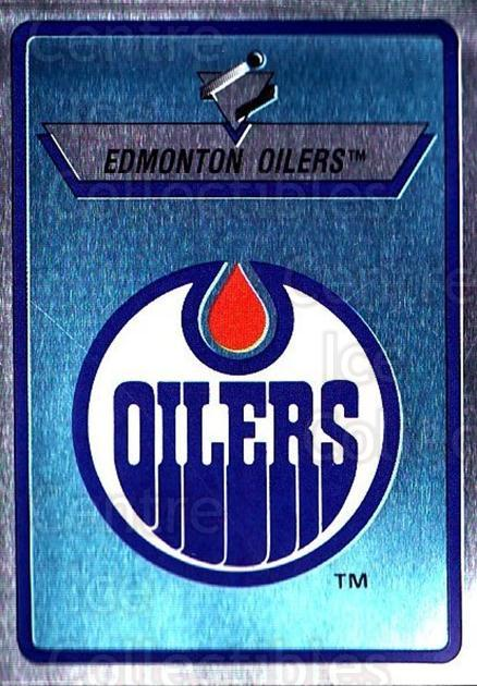 1990-91 Panini Stickers #225 Edmonton Oilers<br/>11 In Stock - $1.00 each - <a href=https://centericecollectibles.foxycart.com/cart?name=1990-91%20Panini%20Stickers%20%23225%20Edmonton%20Oilers...&quantity_max=11&price=$1.00&code=17962 class=foxycart> Buy it now! </a>
