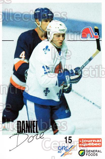 1988-89 Quebec Nordiques General Foods #7 Daniel Dore<br/>5 In Stock - $3.00 each - <a href=https://centericecollectibles.foxycart.com/cart?name=1988-89%20Quebec%20Nordiques%20General%20Foods%20%237%20Daniel%20Dore...&quantity_max=5&price=$3.00&code=179 class=foxycart> Buy it now! </a>