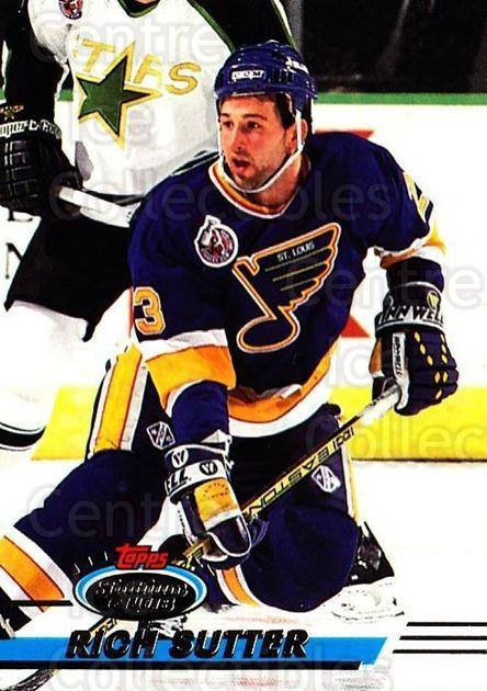 1993-94 Stadium Club OPC #46 Rich Sutter<br/>6 In Stock - $1.00 each - <a href=https://centericecollectibles.foxycart.com/cart?name=1993-94%20Stadium%20Club%20OPC%20%2346%20Rich%20Sutter...&quantity_max=6&price=$1.00&code=180194 class=foxycart> Buy it now! </a>