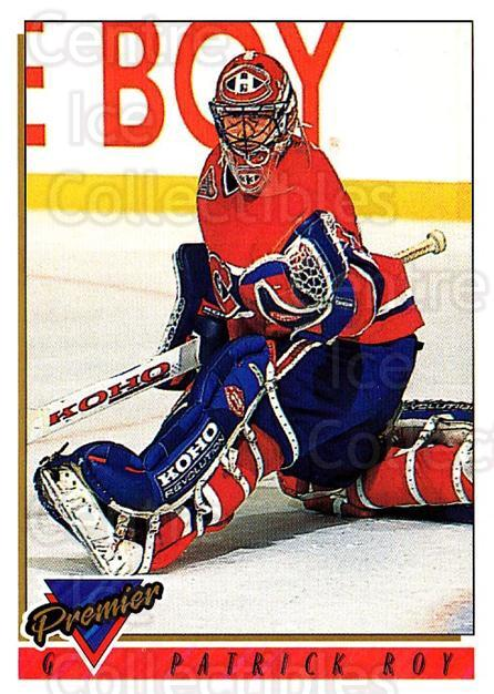 1993-94 Topps Premier #1 Patrick Roy<br/>1 In Stock - $2.00 each - <a href=https://centericecollectibles.foxycart.com/cart?name=1993-94%20Topps%20Premier%20%231%20Patrick%20Roy...&quantity_max=1&price=$2.00&code=180248 class=foxycart> Buy it now! </a>