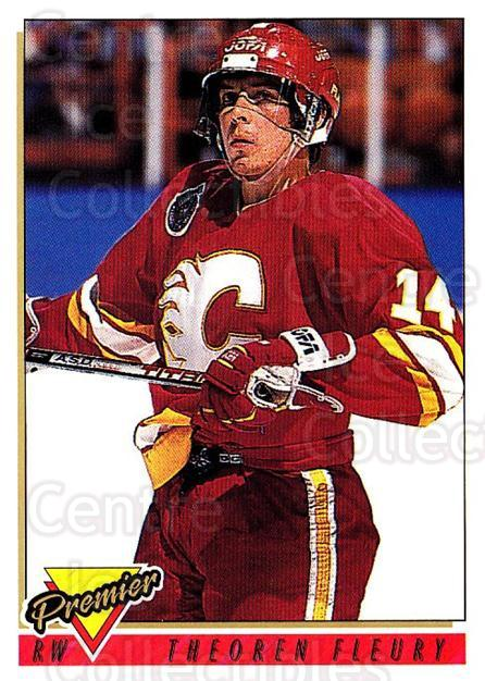 1993-94 Topps Premier #100 Theo Fleury<br/>3 In Stock - $1.00 each - <a href=https://centericecollectibles.foxycart.com/cart?name=1993-94%20Topps%20Premier%20%23100%20Theo%20Fleury...&quantity_max=3&price=$1.00&code=180250 class=foxycart> Buy it now! </a>