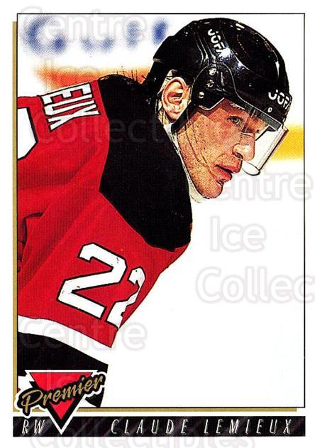 1993-94 Topps Premier #134 Claude Lemieux<br/>3 In Stock - $1.00 each - <a href=https://centericecollectibles.foxycart.com/cart?name=1993-94%20Topps%20Premier%20%23134%20Claude%20Lemieux...&quantity_max=3&price=$1.00&code=180287 class=foxycart> Buy it now! </a>