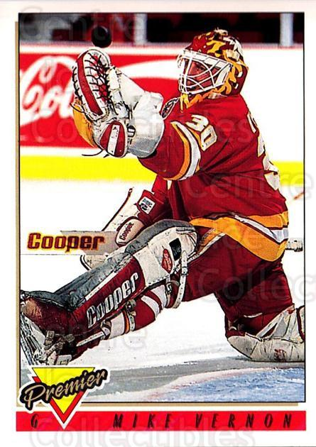 1993-94 Topps Premier #15 Mike Vernon<br/>3 In Stock - $1.00 each - <a href=https://centericecollectibles.foxycart.com/cart?name=1993-94%20Topps%20Premier%20%2315%20Mike%20Vernon...&quantity_max=3&price=$1.00&code=180303 class=foxycart> Buy it now! </a>
