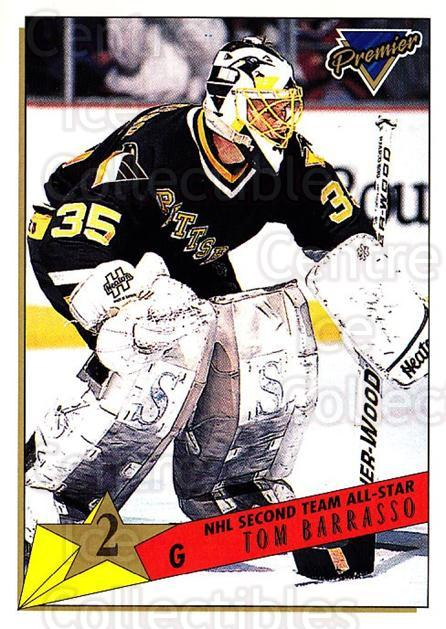 1993-94 Topps Premier #175 Tom Barrasso<br/>1 In Stock - $1.00 each - <a href=https://centericecollectibles.foxycart.com/cart?name=1993-94%20Topps%20Premier%20%23175%20Tom%20Barrasso...&price=$1.00&code=180330 class=foxycart> Buy it now! </a>