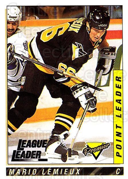 1993-94 Topps Premier #185 Mario Lemieux<br/>2 In Stock - $2.00 each - <a href=https://centericecollectibles.foxycart.com/cart?name=1993-94%20Topps%20Premier%20%23185%20Mario%20Lemieux...&quantity_max=2&price=$2.00&code=180341 class=foxycart> Buy it now! </a>