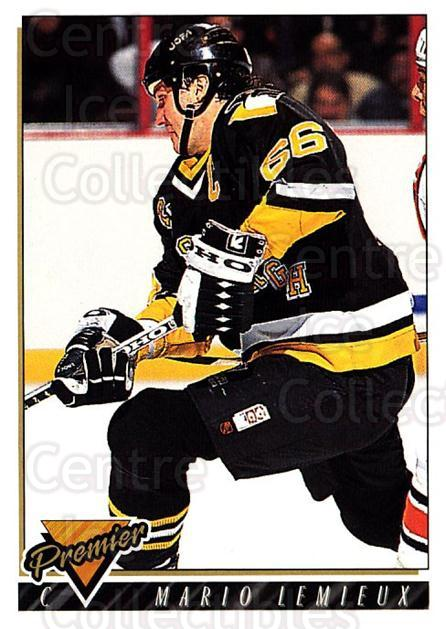 1993-94 Topps Premier #220 Mario Lemieux<br/>3 In Stock - $2.00 each - <a href=https://centericecollectibles.foxycart.com/cart?name=1993-94%20Topps%20Premier%20%23220%20Mario%20Lemieux...&quantity_max=3&price=$2.00&code=180379 class=foxycart> Buy it now! </a>