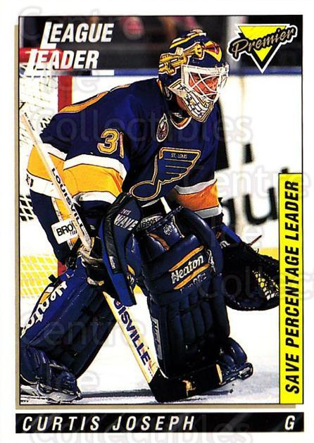 1993-94 Topps Premier #222 Curtis Joseph<br/>4 In Stock - $1.00 each - <a href=https://centericecollectibles.foxycart.com/cart?name=1993-94%20Topps%20Premier%20%23222%20Curtis%20Joseph...&quantity_max=4&price=$1.00&code=180381 class=foxycart> Buy it now! </a>