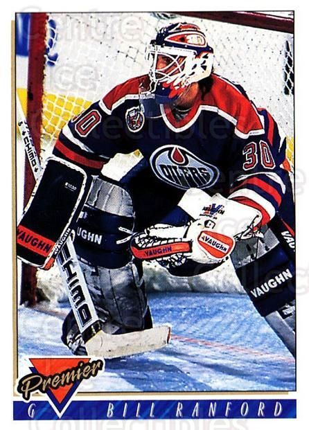 1993-94 Topps Premier #258 Bill Ranford<br/>4 In Stock - $1.00 each - <a href=https://centericecollectibles.foxycart.com/cart?name=1993-94%20Topps%20Premier%20%23258%20Bill%20Ranford...&quantity_max=4&price=$1.00&code=180420 class=foxycart> Buy it now! </a>