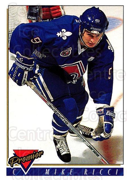 1993-94 Topps Premier #62 Mike Ricci<br/>4 In Stock - $1.00 each - <a href=https://centericecollectibles.foxycart.com/cart?name=1993-94%20Topps%20Premier%20%2362%20Mike%20Ricci...&quantity_max=4&price=$1.00&code=180697 class=foxycart> Buy it now! </a>