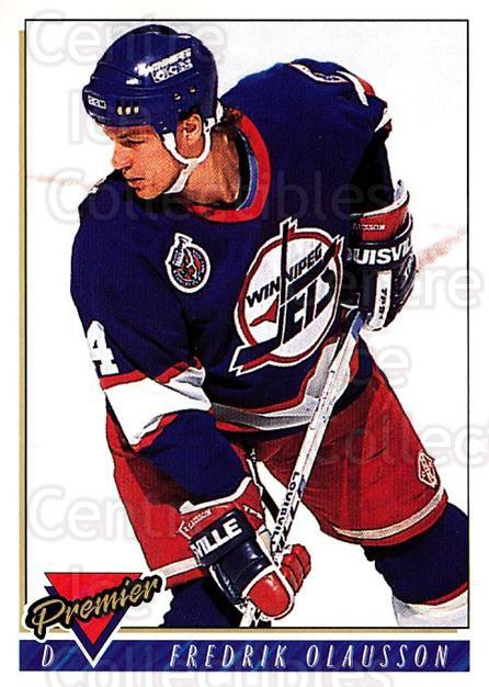 1993-94 Topps Premier #63 Fredrik Olausson<br/>4 In Stock - $1.00 each - <a href=https://centericecollectibles.foxycart.com/cart?name=1993-94%20Topps%20Premier%20%2363%20Fredrik%20Olausso...&quantity_max=4&price=$1.00&code=180698 class=foxycart> Buy it now! </a>