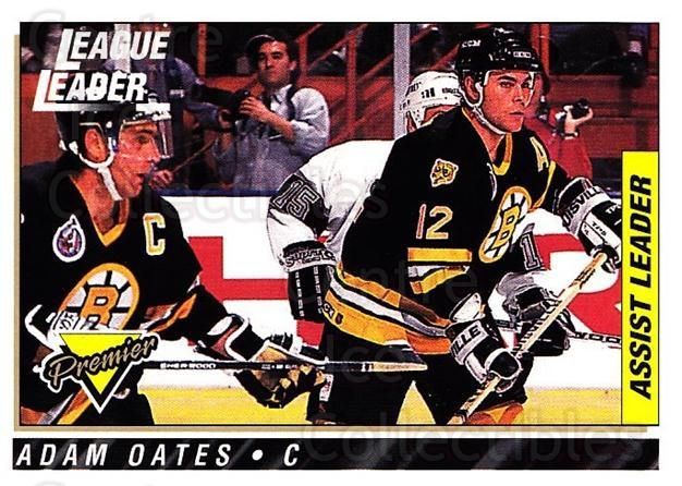 1993-94 Topps Premier #74 Adam Oates, Ray Bourque<br/>2 In Stock - $1.00 each - <a href=https://centericecollectibles.foxycart.com/cart?name=1993-94%20Topps%20Premier%20%2374%20Adam%20Oates,%20Ray...&quantity_max=2&price=$1.00&code=180710 class=foxycart> Buy it now! </a>