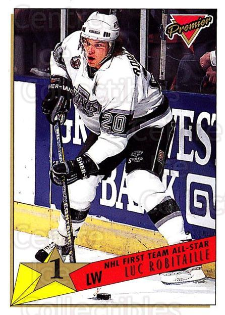 1993-94 Topps Premier #90 Luc Robitaille<br/>4 In Stock - $1.00 each - <a href=https://centericecollectibles.foxycart.com/cart?name=1993-94%20Topps%20Premier%20%2390%20Luc%20Robitaille...&quantity_max=4&price=$1.00&code=180727 class=foxycart> Buy it now! </a>