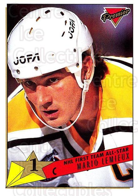 1993-94 Topps Premier #91 Mario Lemieux<br/>2 In Stock - $2.00 each - <a href=https://centericecollectibles.foxycart.com/cart?name=1993-94%20Topps%20Premier%20%2391%20Mario%20Lemieux...&quantity_max=2&price=$2.00&code=180728 class=foxycart> Buy it now! </a>