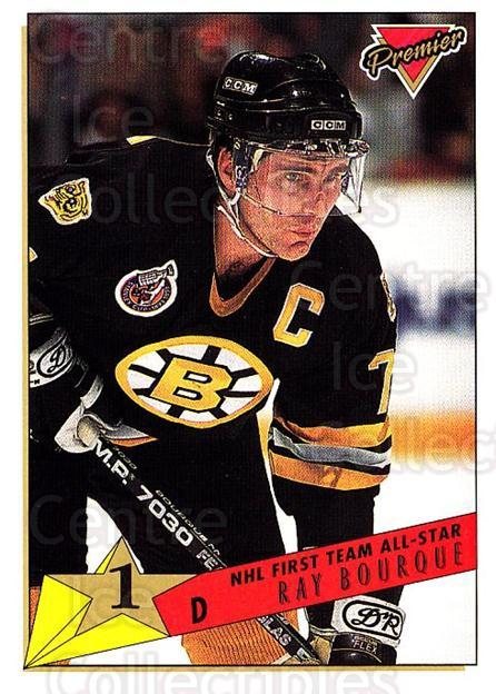 1993-94 Topps Premier #93 Ray Bourque<br/>1 In Stock - $1.00 each - <a href=https://centericecollectibles.foxycart.com/cart?name=1993-94%20Topps%20Premier%20%2393%20Ray%20Bourque...&quantity_max=1&price=$1.00&code=180730 class=foxycart> Buy it now! </a>