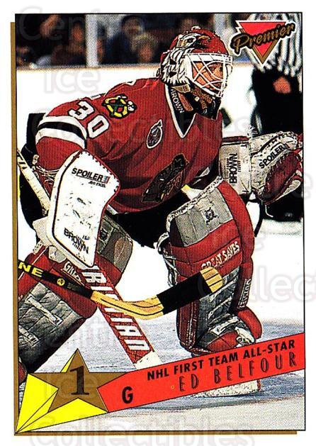 1993-94 Topps Premier #95 Ed Belfour<br/>3 In Stock - $1.00 each - <a href=https://centericecollectibles.foxycart.com/cart?name=1993-94%20Topps%20Premier%20%2395%20Ed%20Belfour...&price=$1.00&code=180732 class=foxycart> Buy it now! </a>