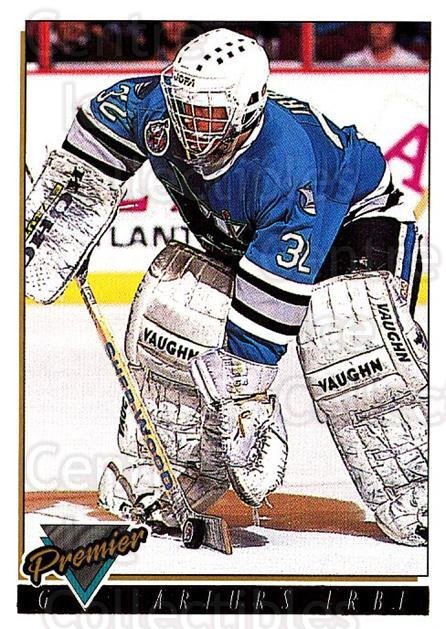 1993-94 Topps Premier Gold #110 Arturs Irbe<br/>4 In Stock - $2.00 each - <a href=https://centericecollectibles.foxycart.com/cart?name=1993-94%20Topps%20Premier%20Gold%20%23110%20Arturs%20Irbe...&quantity_max=4&price=$2.00&code=180746 class=foxycart> Buy it now! </a>