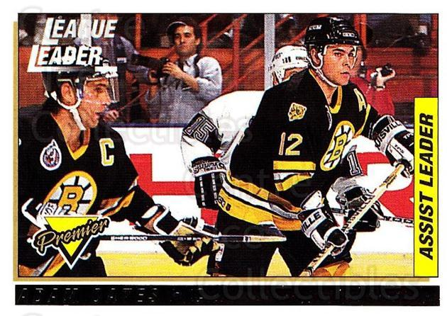 1993-94 Topps Premier Gold #74 Adam Oates, Ray Bourque<br/>2 In Stock - $2.00 each - <a href=https://centericecollectibles.foxycart.com/cart?name=1993-94%20Topps%20Premier%20Gold%20%2374%20Adam%20Oates,%20Ray...&quantity_max=2&price=$2.00&code=181202 class=foxycart> Buy it now! </a>