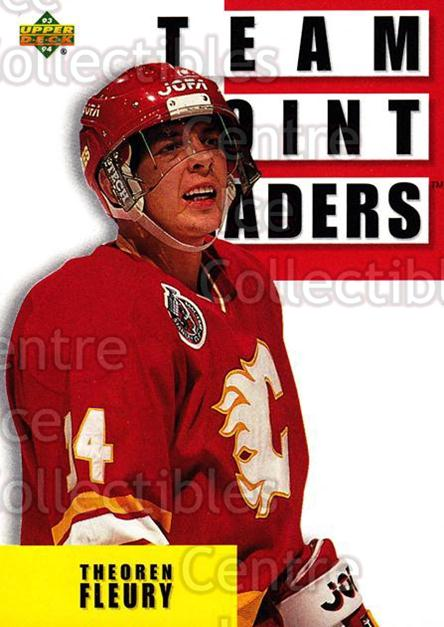 1993-94 Upper Deck #288 Theo Fleury<br/>12 In Stock - $1.00 each - <a href=https://centericecollectibles.foxycart.com/cart?name=1993-94%20Upper%20Deck%20%23288%20Theo%20Fleury...&quantity_max=12&price=$1.00&code=181363 class=foxycart> Buy it now! </a>