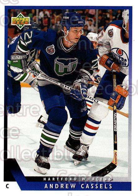 1993-94 Upper Deck #346 Andrew Cassels<br/>12 In Stock - $1.00 each - <a href=https://centericecollectibles.foxycart.com/cart?name=1993-94%20Upper%20Deck%20%23346%20Andrew%20Cassels...&quantity_max=12&price=$1.00&code=181428 class=foxycart> Buy it now! </a>