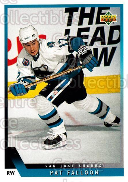 1993-94 Upper Deck #39 Pat Falloon<br/>10 In Stock - $1.00 each - <a href=https://centericecollectibles.foxycart.com/cart?name=1993-94%20Upper%20Deck%20%2339%20Pat%20Falloon...&price=$1.00&code=181476 class=foxycart> Buy it now! </a>