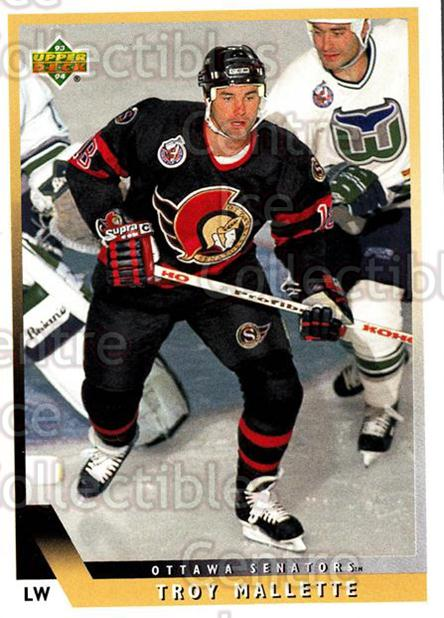 <a href=index.aspx?SetName=1993-94%20Upper%20Deck>1993-94 Upper Deck</a> #418 <a href=index.aspx?PlayerName=Troy%20Mallette> Troy Mallette</a><br/>12 in stock - $1.00 each - <a href=https://centericecollectibles.foxycart.com/cart?name=1993-94%20Upper%20Deck%20%23418%20Troy%20Mallette...&price=$1.00&code=181508 class=foxycart> Buy it now! </a>