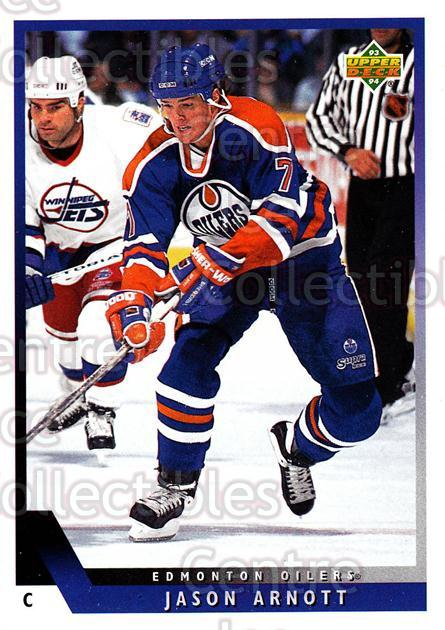 1993-94 Upper Deck #423 Jason Arnott<br/>9 In Stock - $1.00 each - <a href=https://centericecollectibles.foxycart.com/cart?name=1993-94%20Upper%20Deck%20%23423%20Jason%20Arnott...&quantity_max=9&price=$1.00&code=181514 class=foxycart> Buy it now! </a>