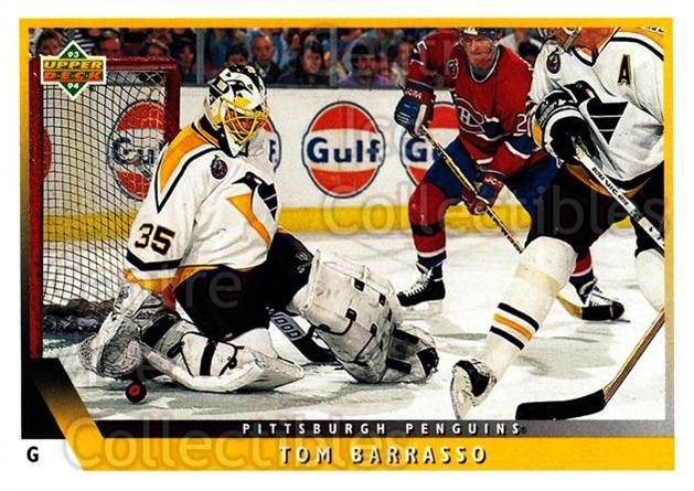 1993-94 Upper Deck #45 Tom Barrasso<br/>12 In Stock - $1.00 each - <a href=https://centericecollectibles.foxycart.com/cart?name=1993-94%20Upper%20Deck%20%2345%20Tom%20Barrasso...&price=$1.00&code=181543 class=foxycart> Buy it now! </a>