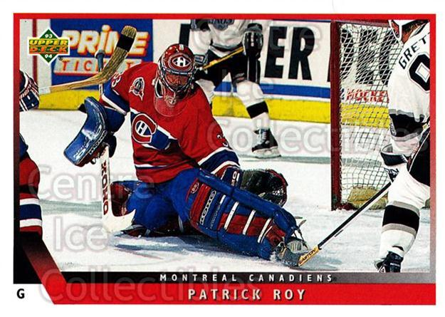 1993-94 Upper Deck #49 Patrick Roy<br/>6 In Stock - $2.00 each - <a href=https://centericecollectibles.foxycart.com/cart?name=1993-94%20Upper%20Deck%20%2349%20Patrick%20Roy...&quantity_max=6&price=$2.00&code=181586 class=foxycart> Buy it now! </a>