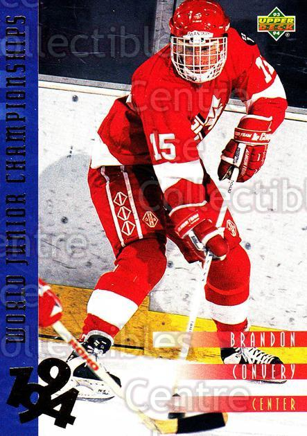 1993-94 Upper Deck #548 Brandon Convery<br/>11 In Stock - $1.00 each - <a href=https://centericecollectibles.foxycart.com/cart?name=1993-94%20Upper%20Deck%20%23548%20Brandon%20Convery...&quantity_max=11&price=$1.00&code=181648 class=foxycart> Buy it now! </a>