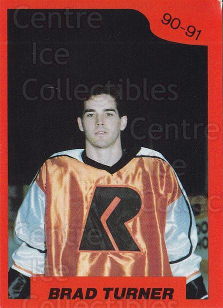1990-91 Richmond Renegades #1 Brad Turner<br/>1 In Stock - $3.00 each - <a href=https://centericecollectibles.foxycart.com/cart?name=1990-91%20Richmond%20Renegades%20%231%20Brad%20Turner...&quantity_max=1&price=$3.00&code=18169 class=foxycart> Buy it now! </a>