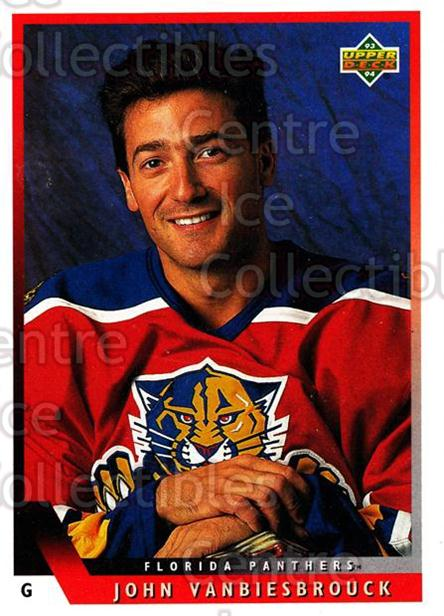 1993-94 Upper Deck #8 John Vanbiesbrouck<br/>12 In Stock - $1.00 each - <a href=https://centericecollectibles.foxycart.com/cart?name=1993-94%20Upper%20Deck%20%238%20John%20Vanbiesbro...&quantity_max=12&price=$1.00&code=181702 class=foxycart> Buy it now! </a>