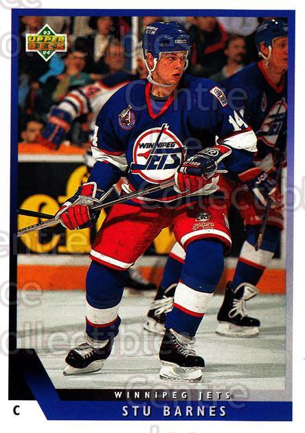 1993-94 Upper Deck #94 Stu Barnes<br/>11 In Stock - $1.00 each - <a href=https://centericecollectibles.foxycart.com/cart?name=1993-94%20Upper%20Deck%20%2394%20Stu%20Barnes...&quantity_max=11&price=$1.00&code=181718 class=foxycart> Buy it now! </a>