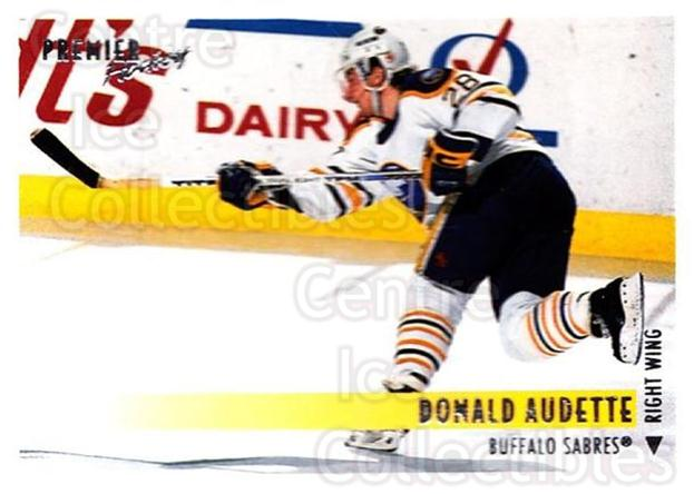 1994-95 OPC Premier #289 Donald Audette<br/>5 In Stock - $1.00 each - <a href=https://centericecollectibles.foxycart.com/cart?name=1994-95%20OPC%20Premier%20%23289%20Donald%20Audette...&quantity_max=5&price=$1.00&code=182486 class=foxycart> Buy it now! </a>