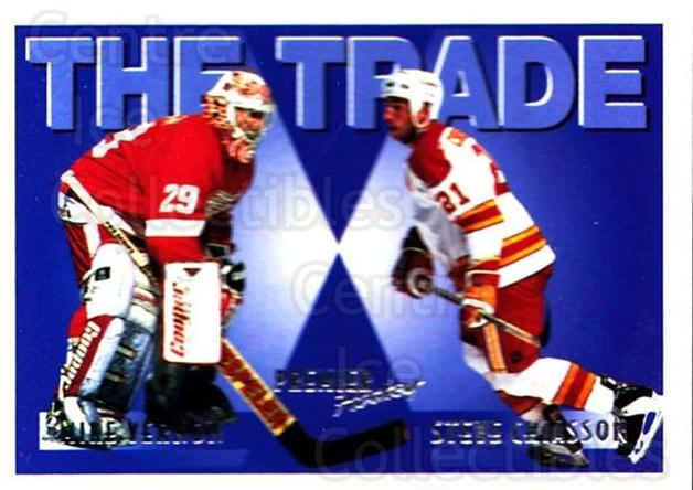 1994-95 OPC Premier #348 Mike Vernon, Steve Chiasson<br/>4 In Stock - $1.00 each - <a href=https://centericecollectibles.foxycart.com/cart?name=1994-95%20OPC%20Premier%20%23348%20Mike%20Vernon,%20St...&quantity_max=4&price=$1.00&code=182550 class=foxycart> Buy it now! </a>
