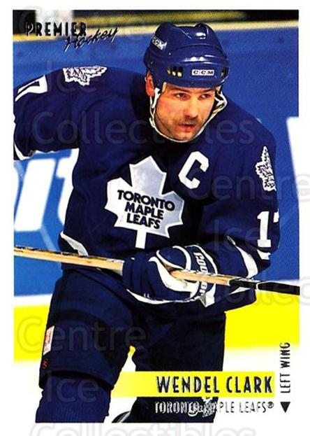 1994-95 OPC Premier #55 Wendel Clark<br/>3 In Stock - $2.00 each - <a href=https://centericecollectibles.foxycart.com/cart?name=1994-95%20OPC%20Premier%20%2355%20Wendel%20Clark...&quantity_max=3&price=$2.00&code=182762 class=foxycart> Buy it now! </a>