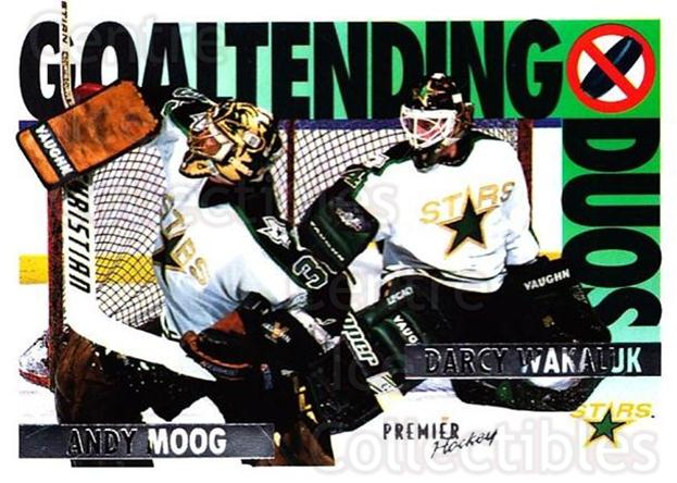 1994-95 OPC Premier #81 Andy Moog, Darcy Wakaluk<br/>3 In Stock - $1.00 each - <a href=https://centericecollectibles.foxycart.com/cart?name=1994-95%20OPC%20Premier%20%2381%20Andy%20Moog,%20Darc...&quantity_max=3&price=$1.00&code=182791 class=foxycart> Buy it now! </a>