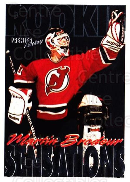 1994-95 Topps Premier #190 Martin Brodeur<br/>2 In Stock - $2.00 each - <a href=https://centericecollectibles.foxycart.com/cart?name=1994-95%20Topps%20Premier%20%23190%20Martin%20Brodeur...&price=$2.00&code=183074 class=foxycart> Buy it now! </a>