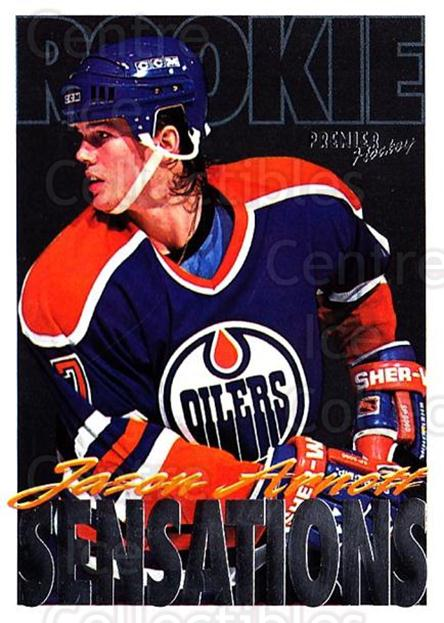 1994-95 Topps Premier #193 Jason Arnott<br/>4 In Stock - $1.00 each - <a href=https://centericecollectibles.foxycart.com/cart?name=1994-95%20Topps%20Premier%20%23193%20Jason%20Arnott...&quantity_max=4&price=$1.00&code=183077 class=foxycart> Buy it now! </a>