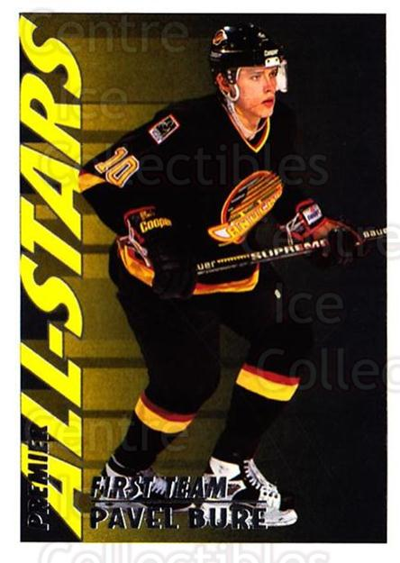 1994-95 Topps Premier #39 Pavel Bure<br/>2 In Stock - $1.00 each - <a href=https://centericecollectibles.foxycart.com/cart?name=1994-95%20Topps%20Premier%20%2339%20Pavel%20Bure...&quantity_max=2&price=$1.00&code=183286 class=foxycart> Buy it now! </a>
