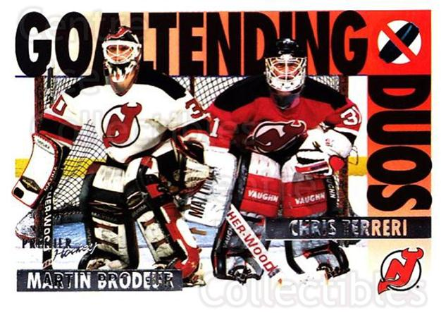 1994-95 Topps Premier #83 Martin Brodeur, Chris Terreri<br/>4 In Stock - $2.00 each - <a href=https://centericecollectibles.foxycart.com/cart?name=1994-95%20Topps%20Premier%20%2383%20Martin%20Brodeur,...&price=$2.00&code=183469 class=foxycart> Buy it now! </a>