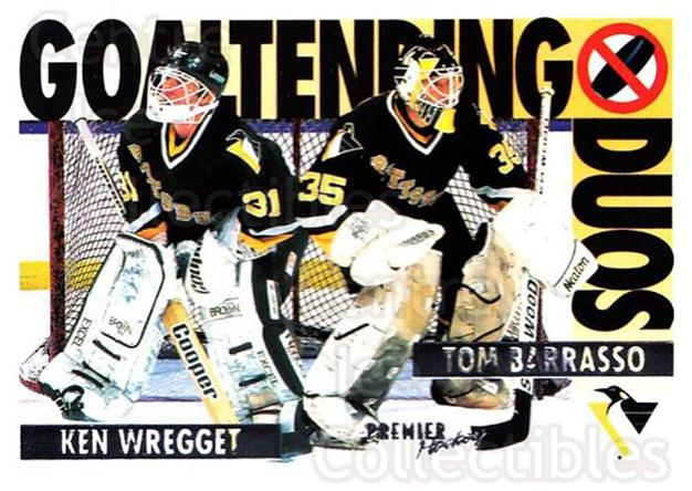 1994-95 Topps Premier #84 Tom Barrasso, Ken Wregget<br/>2 In Stock - $1.00 each - <a href=https://centericecollectibles.foxycart.com/cart?name=1994-95%20Topps%20Premier%20%2384%20Tom%20Barrasso,%20K...&price=$1.00&code=183470 class=foxycart> Buy it now! </a>