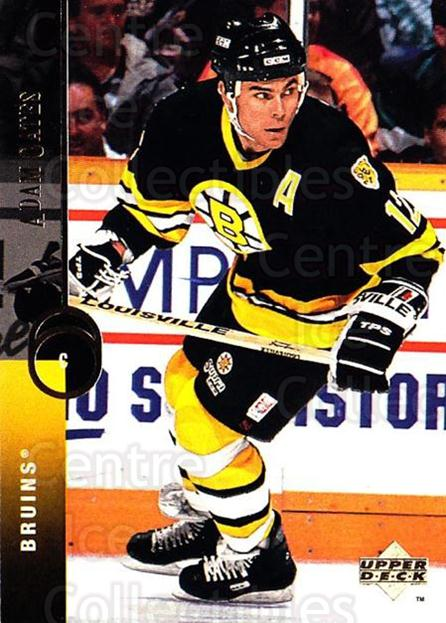 1994-95 Upper Deck #11 Adam Oates<br/>7 In Stock - $1.00 each - <a href=https://centericecollectibles.foxycart.com/cart?name=1994-95%20Upper%20Deck%20%2311%20Adam%20Oates...&quantity_max=7&price=$1.00&code=183729 class=foxycart> Buy it now! </a>