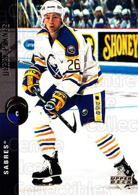 1994-95 Upper Deck #142 Derek Plante<br/>7 In Stock - $1.00 each - <a href=https://centericecollectibles.foxycart.com/cart?name=1994-95%20Upper%20Deck%20%23142%20Derek%20Plante...&quantity_max=7&price=$1.00&code=183765 class=foxycart> Buy it now! </a>